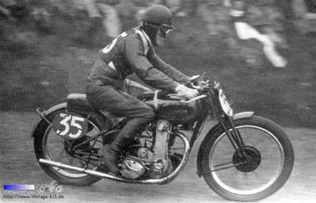 1934 AJS 10 Rowley Senior TT.